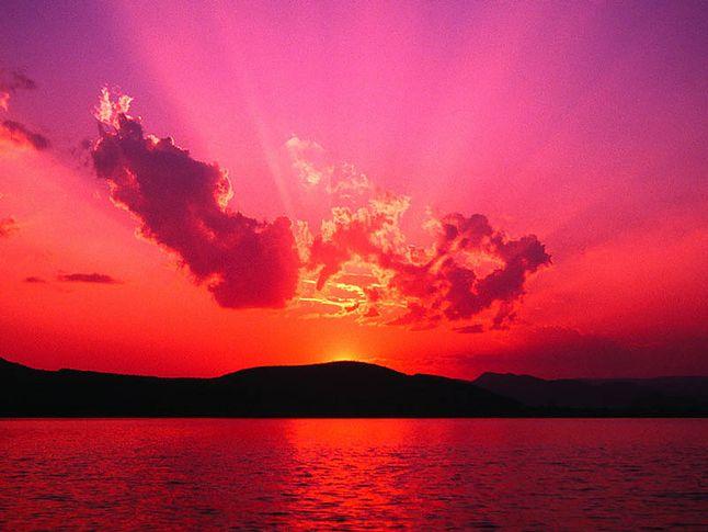 Przykładowe tapety: Zachód słońca...