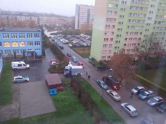 Akcja CBŚP w Płocku. Ewakuacja
