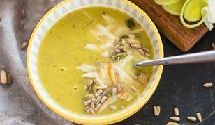 Zupa porowa z oscypkiem