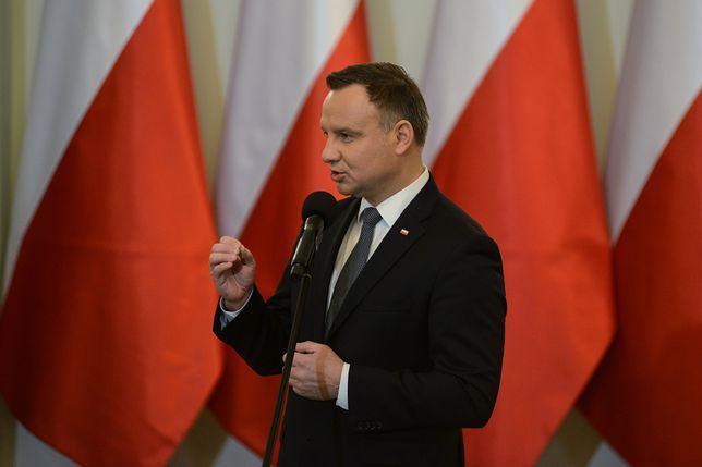 Incydent pod Pałacem Prezydenckim. Jest komentarz Andrzeja Dudy