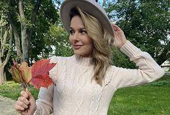Paulina Sykut-Jeżyna w idealnej sukience z dzianiny. Znajdziecie ją w ofercie znanej marki!