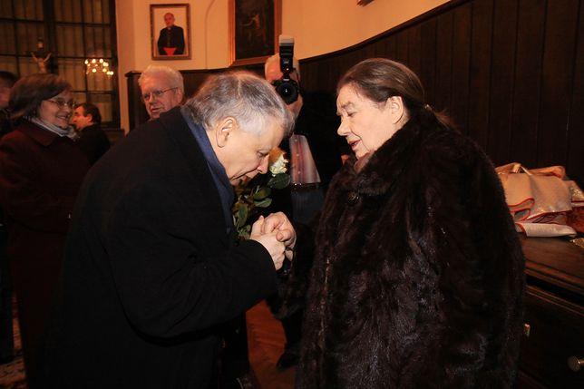 Jarosław Kaczyński i Katarzyna Łaniewska na Marszu Pamięci w 2011 r.