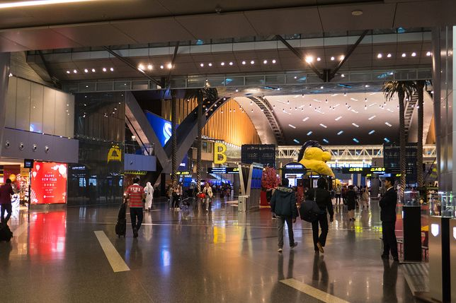Lotnisko w mieście Doha w Katarze