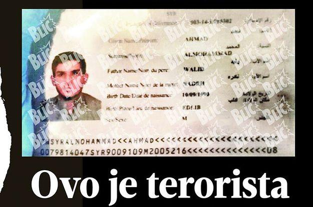 """Serbski """"Blic"""" publikuje zdjęcie i tożsamość jednego z terrorystów"""
