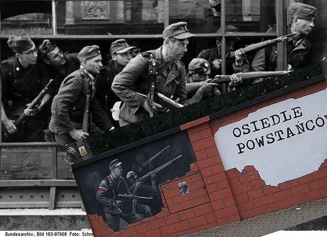 Fatalna pomyłka na patriotycznym muralu. Zamiast powstańców, uwieczniono morderców z rzezi Woli
