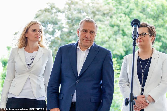 Barbara Nowacka, Grzegorz Schetyna, Katarzyna Lubnauer.