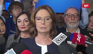 Małgorzata Kidawa-Błońska o Trybunale Stanu dla prezydenta Andrzeja Dudy