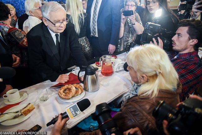 """Kaczyński do niepełnosprawnej: """"Proszę nas popierać, a nie przeszkadzać"""""""