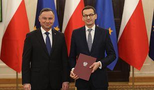 Andrzej Duda desygnuje Mateusza Morawieckiego na premiera. Warszawa, 14 listopada 2019 roku.
