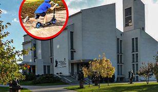 Ksiądz alarmuje o wyścigach rowerów i hulajnóg wokół kościoła