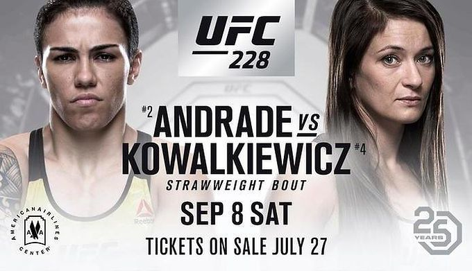 Jessica Andrade vs Karolina Kowalkiewicz Full Fight UFC 228 (08.09.2018)