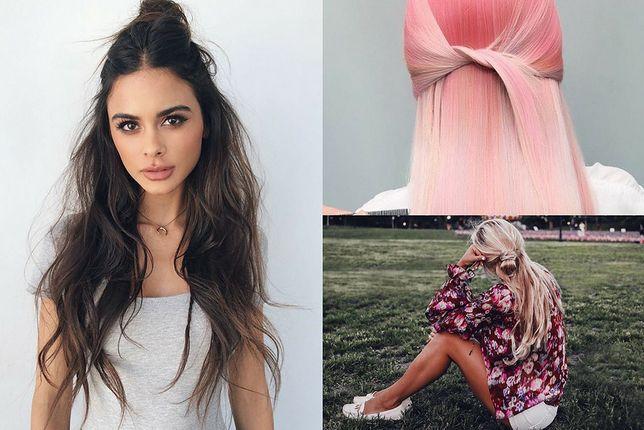 Częściowo związane włosy to element udanej fryzury na rozpuszczone włosy