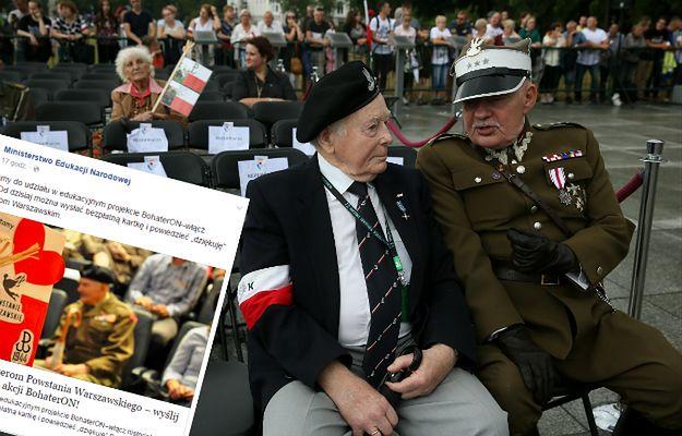 Podziękuj bohaterom Powstania Warszawskiego! Akcja zachęcająca do wysłania kartki Powstańcom