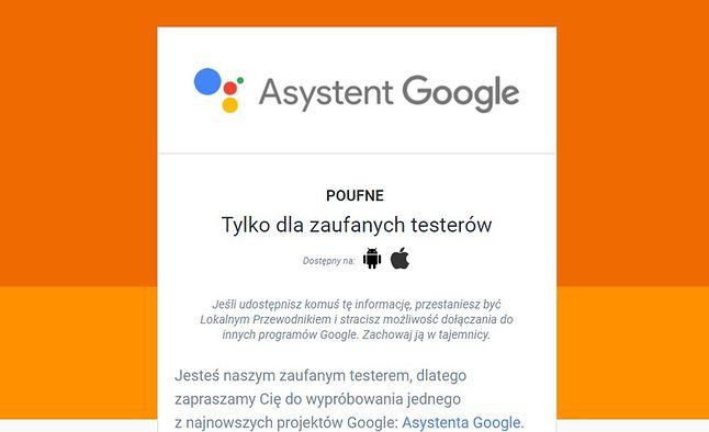 Fragment poufnej wiadomości o Asystencie Google. Źródło: Fandroid.