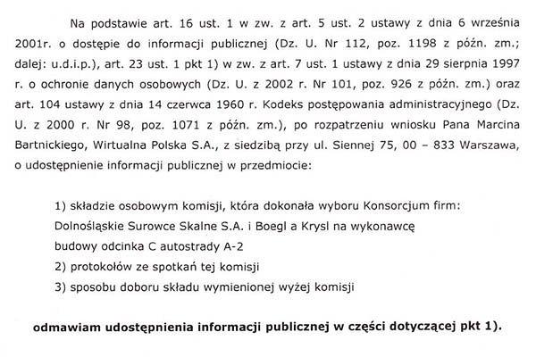 Urzędnicy przyznali kontrakt za 756 mln zł bez przetargu, nie chcą ujawnić swojej tożsamości
