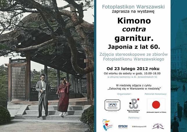 Kimono contra garnitur. Japonia lat 60.