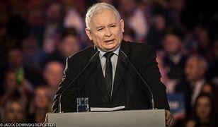 Lublin. Jarosław Kaczyński na konwencji PiS