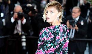 Anja Rubik w Cannes w kwiecistej mini w kwiaty. Czerwony dywan należał do niej