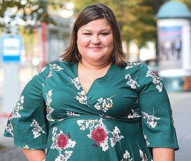 Dominika Gwit w zielonej sukience