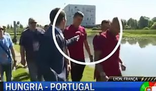 Na aukcję zostanie wystawiony mikrofon, który Cristiano Ronaldo wyrzucił do jeziora [WIDEO]