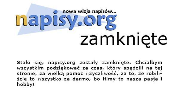 Prokuratura umorzyła śledztwo przeciwko stronie napisy.org