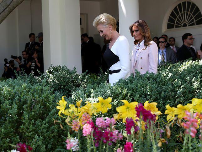 Agata Kornhauser-Duda i Melania Trump w Białym Domu
