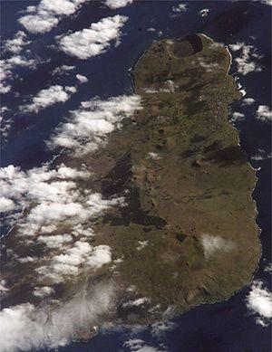 Zdjęcie satelitarne Wyspy Wielkanocnej