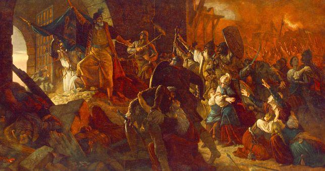 Atak na Szigetvár - obraz Bertalana Székelya