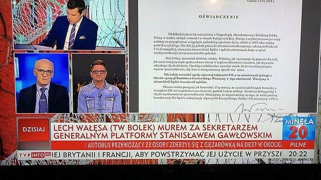 Kontrowersyjny pasek na temat Wałęsy