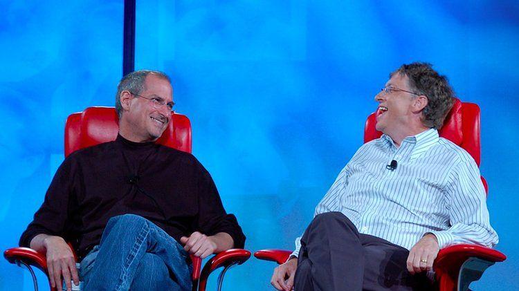 Steve Jobs I Bill Gates, kadr z nagrania