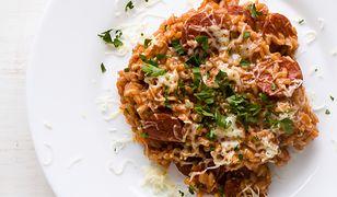 Risotto z kiełbaskami wieprzowymi i koprem włoskim