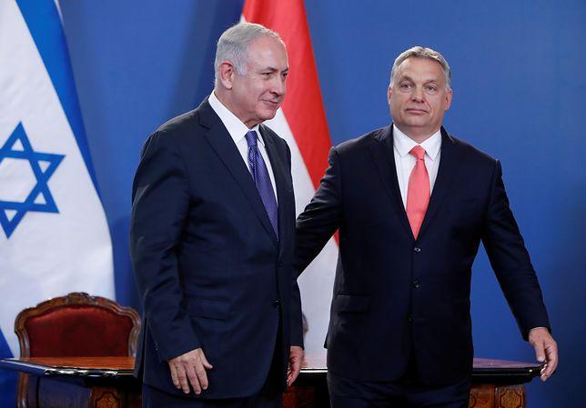 Beniamin Netanjahu i Wiktor Obran podczas spotkania w Budapeszcie