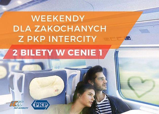 Walentynki z PKP Intercity. Dwa bilety w cenie jednego na weekend