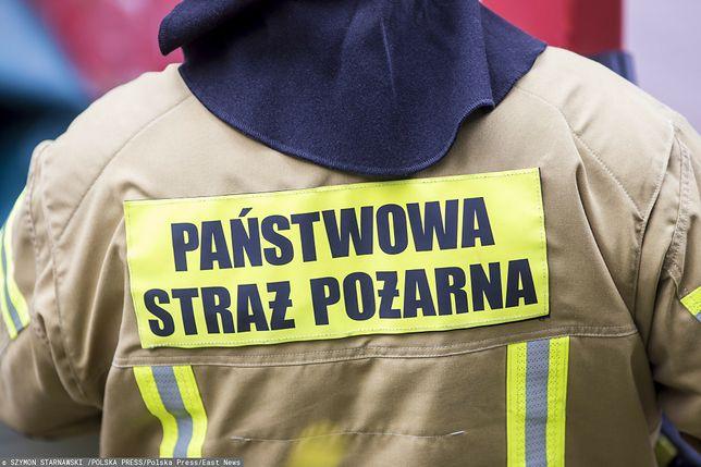 Pożar w Nowej Hucie w Krakowie