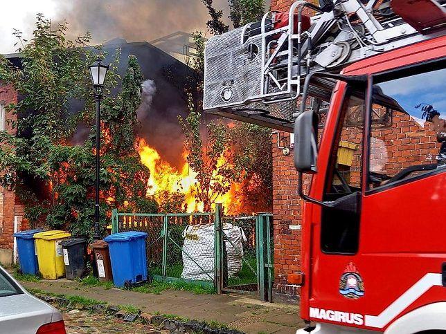 Pożar na gdańskim osiedlu