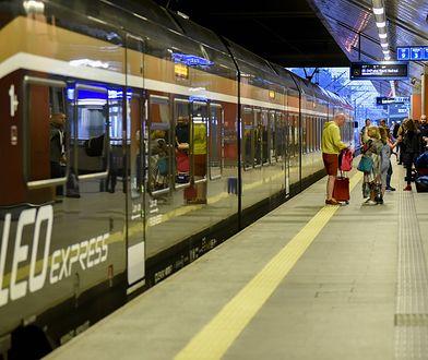 Skład Leo Express na dworcu kolejowym Kraków Główny. Czesi chcą wkrótce uruchomić połączenie Warszawa-Kraków