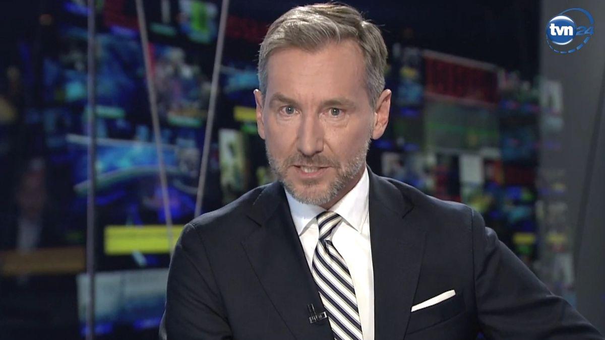 """Środowe """"Fakty po Faktach"""" Piotr Kraśko zaczął od historycznej przemowy"""