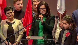 Aleksandra Dulkiewicz podczas wieczoru wyborczego