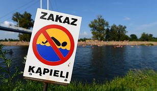Zakaz kąpieli obowiązuje w 8 miejscach w Polsce
