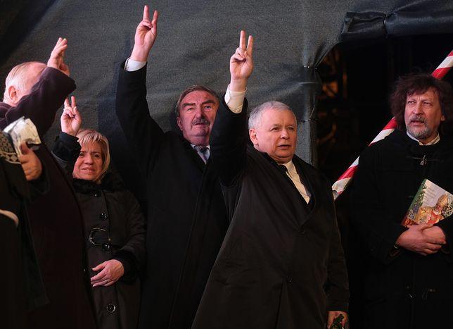 Andrzej Melak i Jarosław Kaczyński