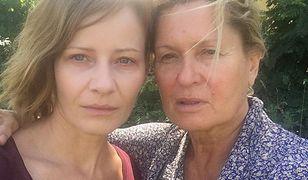 Ewa Kasprzyk i Małgorzata Kożuchowska na planie u Patryka Vegi