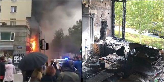 Warszawa. Ogromny pożar i spore zniszczenia w redakcji