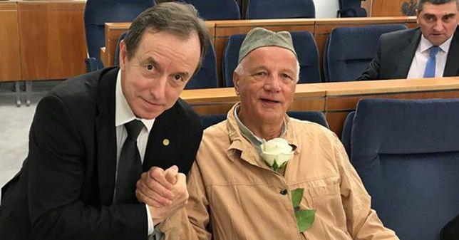Senat dyskutuje o Sądzie Najwyższym. Jan Rulewski przebrał się... za więźnia