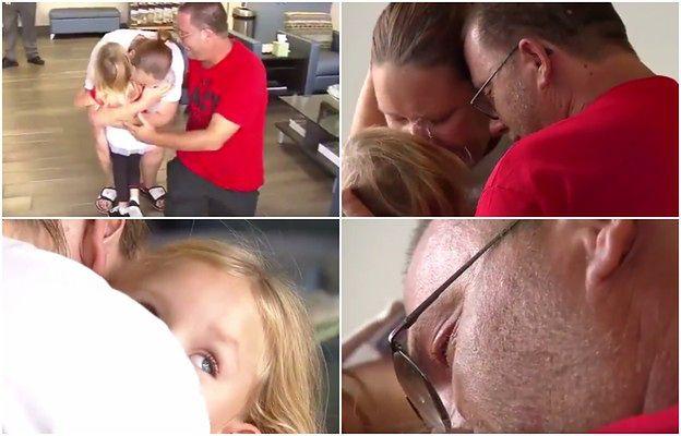4-latka wpada w ramiona rodziców. To ich pierwsze spotkanie od porwania dziewczynki