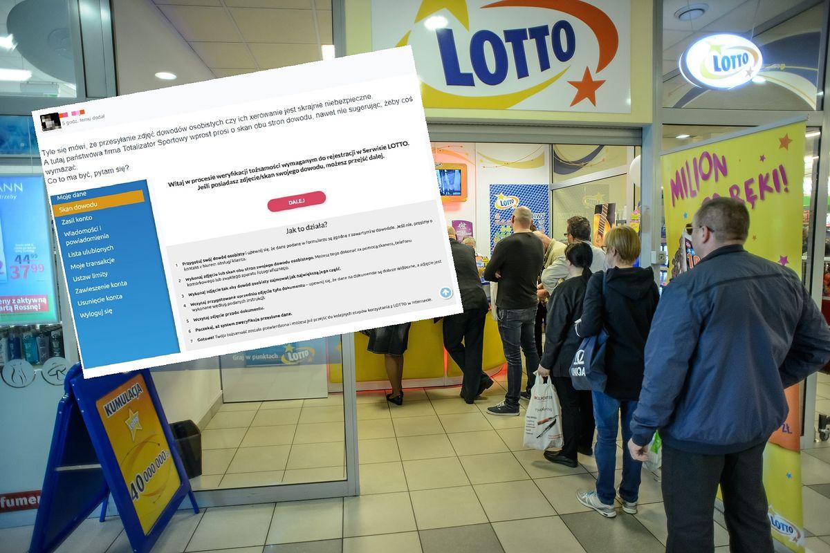 Lotto prosi o dowód. Burza w internecie, a wystarczy doczytać
