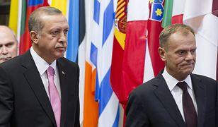 Na zdj. Recep Tayyip Erdogan, prezydent Turcji, z Donaldem Tuskiem.