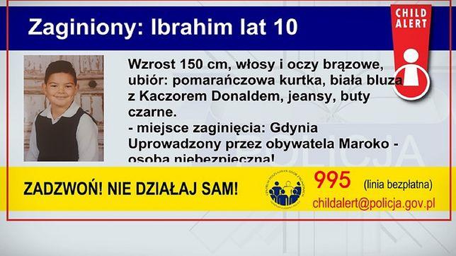 Gdynia. Policja poszukuje 10-letniego Ibrahima. Uruchomiono Child Alert