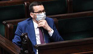 Sejm. Premier Mateusz Morawiecki na sali plenarnej