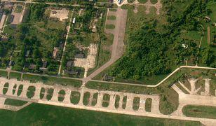 Lotnisko Smoleńsk Sewiernyj, gdzie znajduje się wiata z wrakiem
