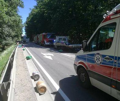 Przyczyny wypadku wyjaśnia drogówka z Kościerzyny